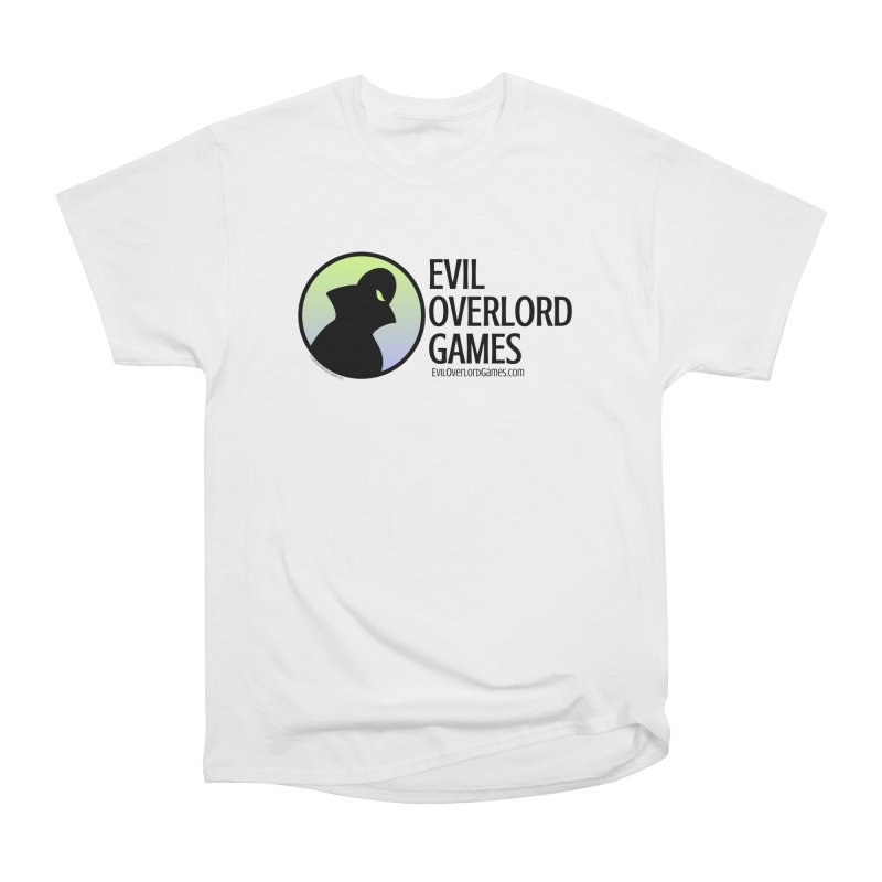 Evil Overlord logo - dark Men's Heavyweight T-Shirt by Evil Overlord Games - The Shop!
