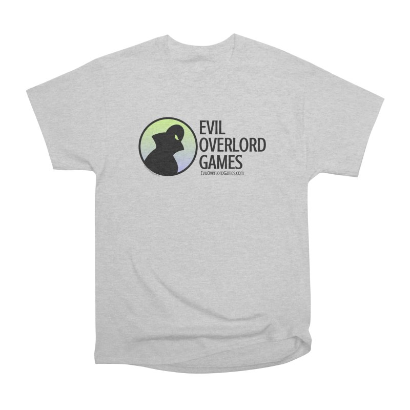 Evil Overlord logo - dark Women's Heavyweight Unisex T-Shirt by Evil Overlord Games - The Shop!