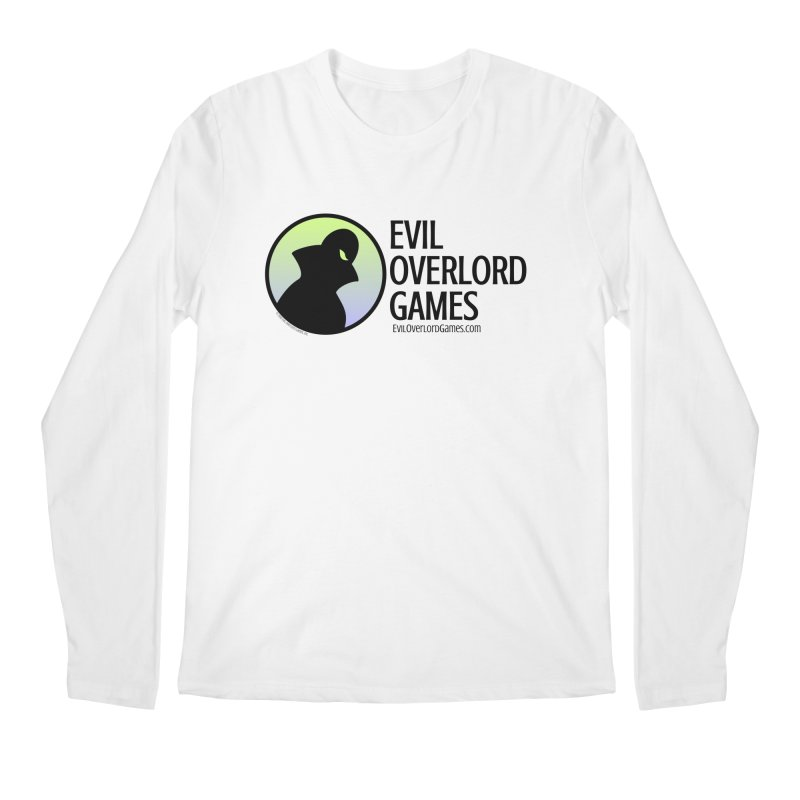 Evil Overlord logo - dark Men's Regular Longsleeve T-Shirt by Evil Overlord Games - The Shop!
