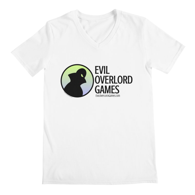 Evil Overlord logo - dark Men's Regular V-Neck by Evil Overlord Games - The Shop!