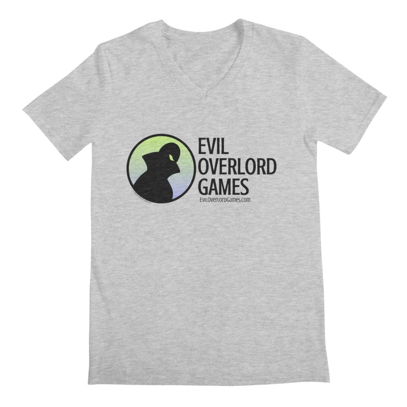 Evil Overlord logo - dark Men's Regular V-Neck by Evil Overlord Games - The Shop!