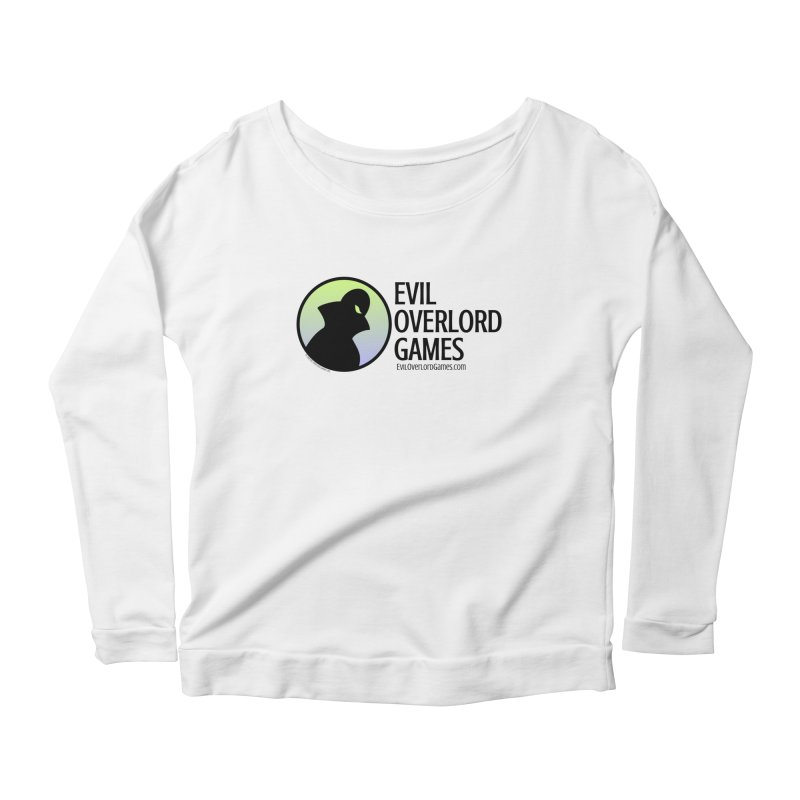 Evil Overlord logo - dark Women's Scoop Neck Longsleeve T-Shirt by Evil Overlord Games - The Shop!