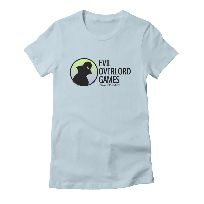 Evil Overlord logo - dark in Women's Fitted T-Shirt Baby Blue by Evil Overlord Games - The Shop!