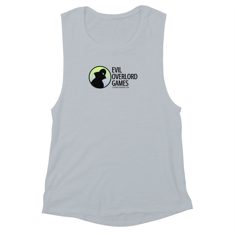 Evil Overlord logo - dark Women's Muscle Tank by Evil Overlord Games - The Shop!
