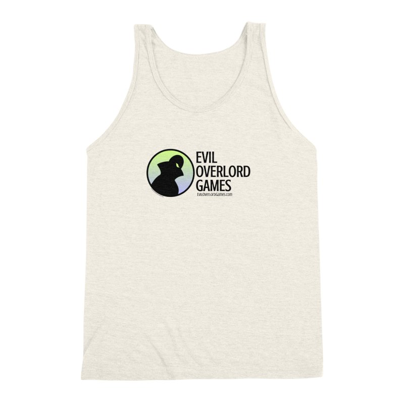 Evil Overlord logo - dark Men's Triblend Tank by Evil Overlord Games - The Shop!