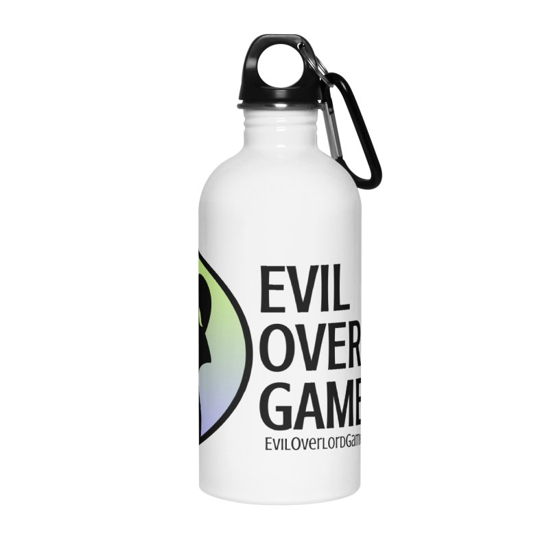 Evil Overlord logo - dark Accessories Water Bottle by Evil Overlord Games - The Shop!