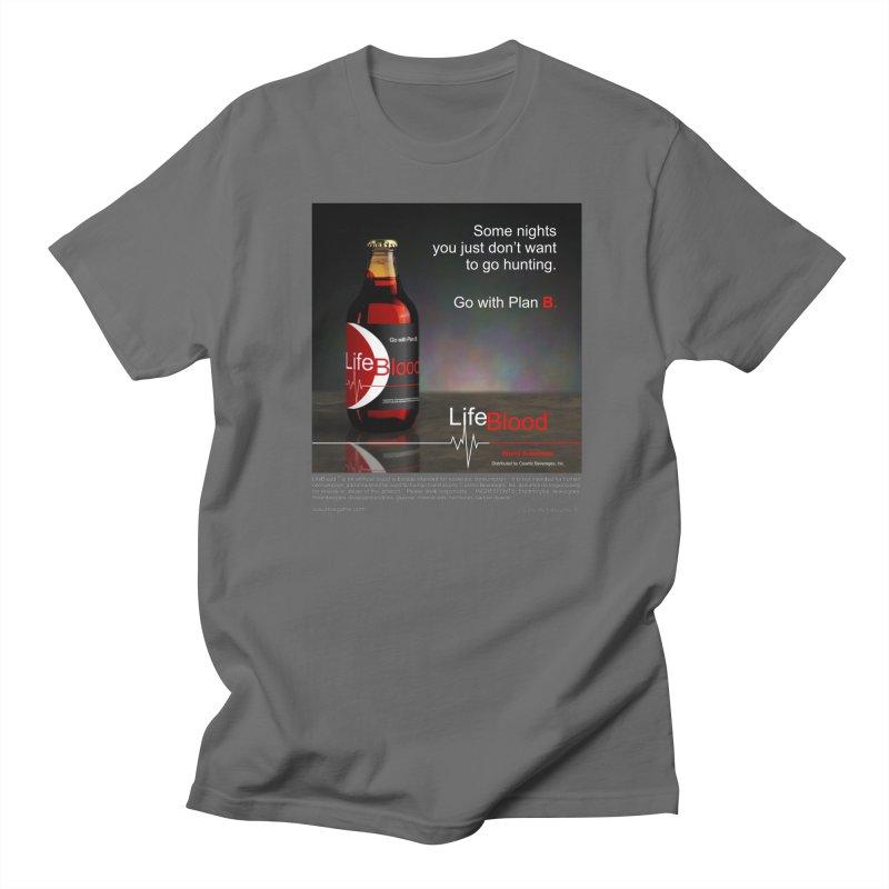 LifeBlood Ad in Men's Regular T-Shirt Asphalt by Evil Overlord Games - The Shop!