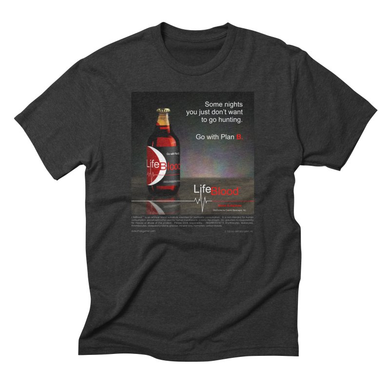 LifeBlood Ad Men's Triblend T-Shirt by Evil Overlord Games - The Shop!