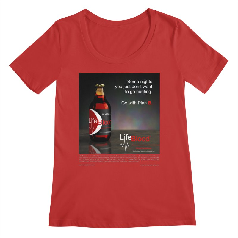 LifeBlood Ad Women's Regular Scoop Neck by Evil Overlord Games - The Shop!