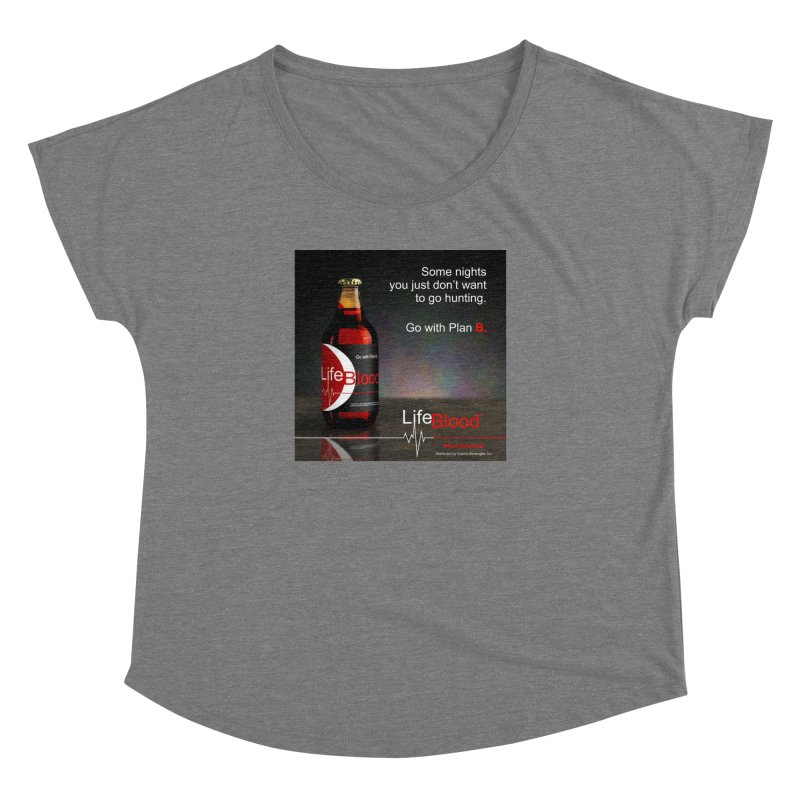 LifeBlood Ad Women's Dolman Scoop Neck by Evil Overlord Games - The Shop!