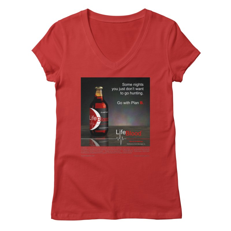 LifeBlood Ad Women's Regular V-Neck by Evil Overlord Games - The Shop!