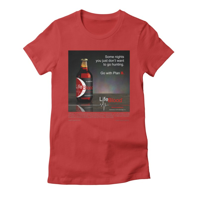 LifeBlood Ad Women's Fitted T-Shirt by Evil Overlord Games - The Shop!