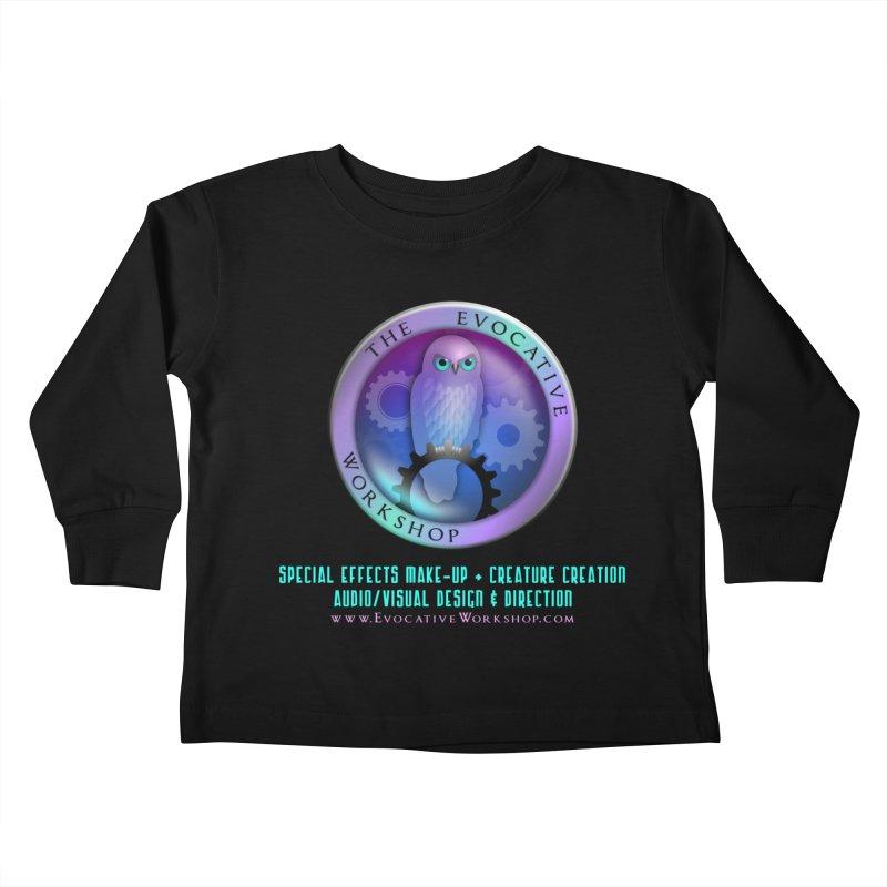 The Evocative Workshop Logo with Description Kids Toddler Longsleeve T-Shirt by The Evocative Workshop's SFX Art Studio Shop