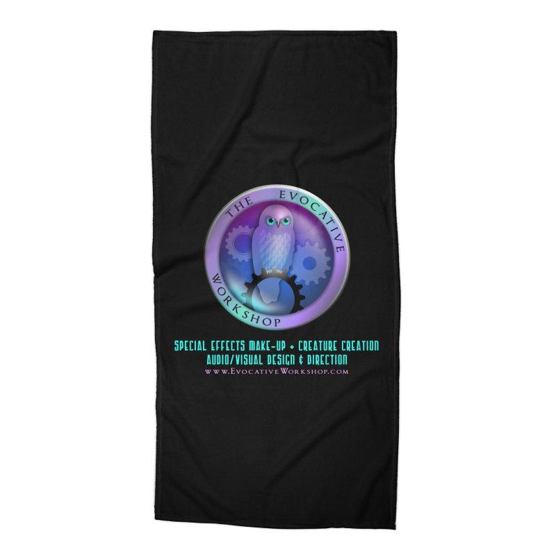 The Evocative Workshop Logo with Description Accessories Beach Towel by The Evocative Workshop's SFX Art Studio Shop