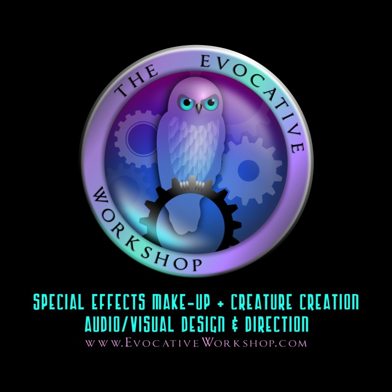 The Evocative Workshop Logo with full text by The Evocative Workshop's SFX Art Studio Shop