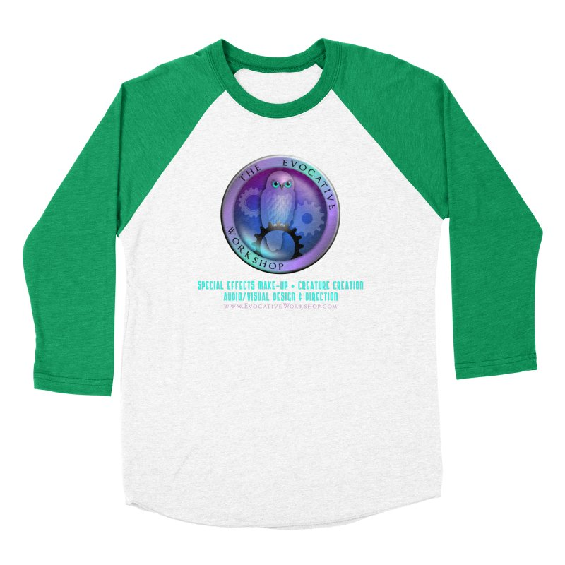 The Evocative Workshop Logo with full text Women's Baseball Triblend Longsleeve T-Shirt by The Evocative Workshop's SFX Art Studio Shop
