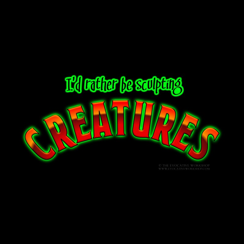 I'd rather be sculpting creatures Men's V-Neck by The Evocative Workshop's SFX Art Studio Shop