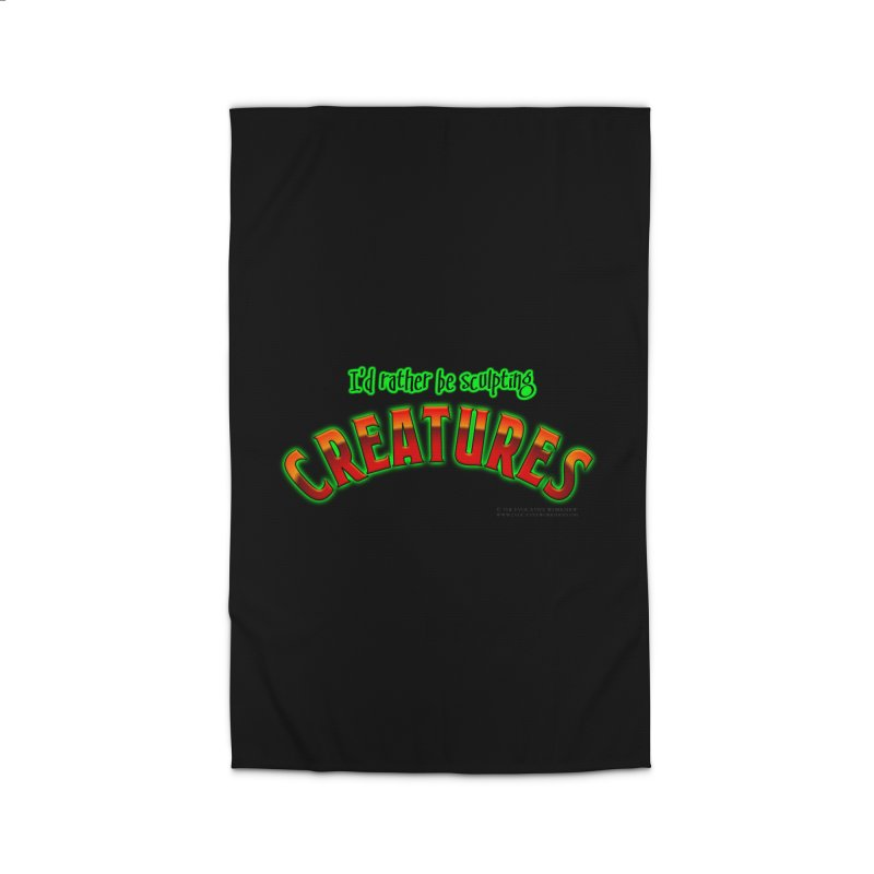 I'd rather be sculpting creatures Home Rug by The Evocative Workshop's SFX Art Studio Shop