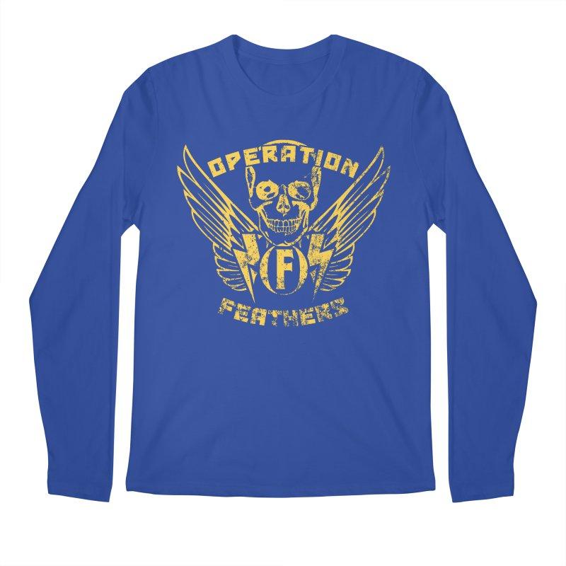 Operation Feathers Logo - Distressed Gold on Dark Grey Men's Regular Longsleeve T-Shirt by The Evocative Workshop's SFX Art Studio Shop