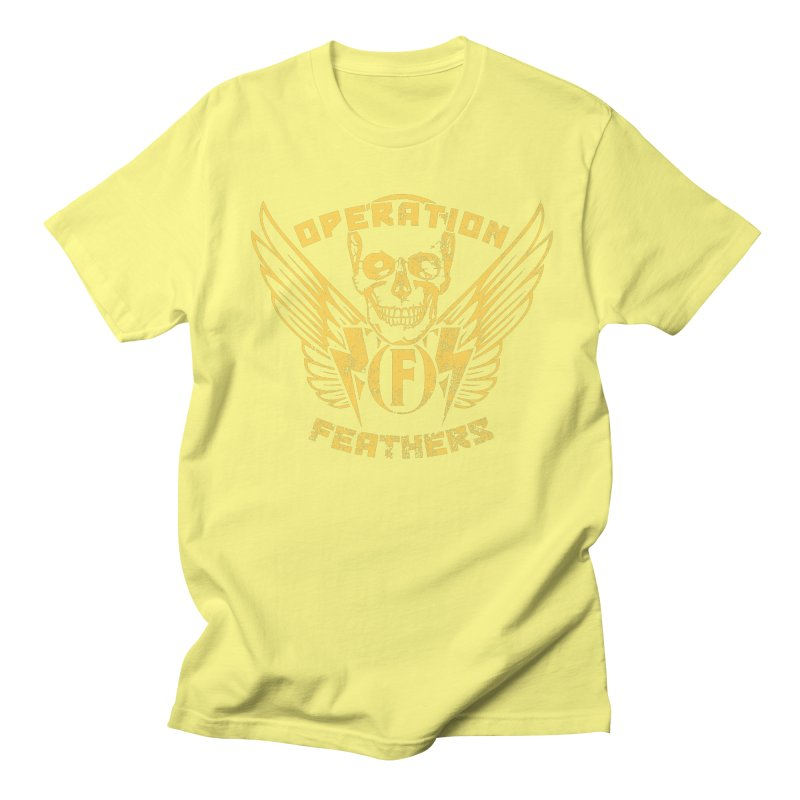 Operation Feathers Logo - Distressed Gold on Dark Grey Women's T-Shirt by The Evocative Workshop's SFX Art Studio Shop