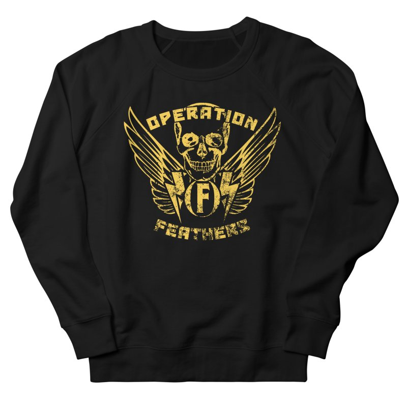 Operation Feathers Logo - Distressed Gold on Dark Grey Women's Sweatshirt by The Evocative Workshop's SFX Art Studio Shop