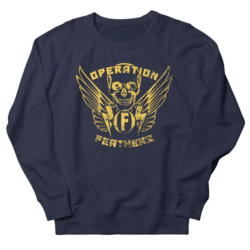 Operation Feathers Logo - Distressed Gold on Dark Grey Women's Sweatshirt by The Evocative Workshop's SFX Art Studio Shop
