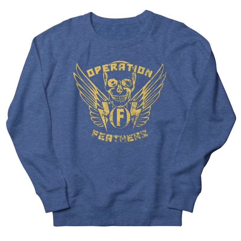 Operation Feathers Logo - Distressed Gold on Dark Grey Men's Sweatshirt by The Evocative Workshop's SFX Art Studio Shop