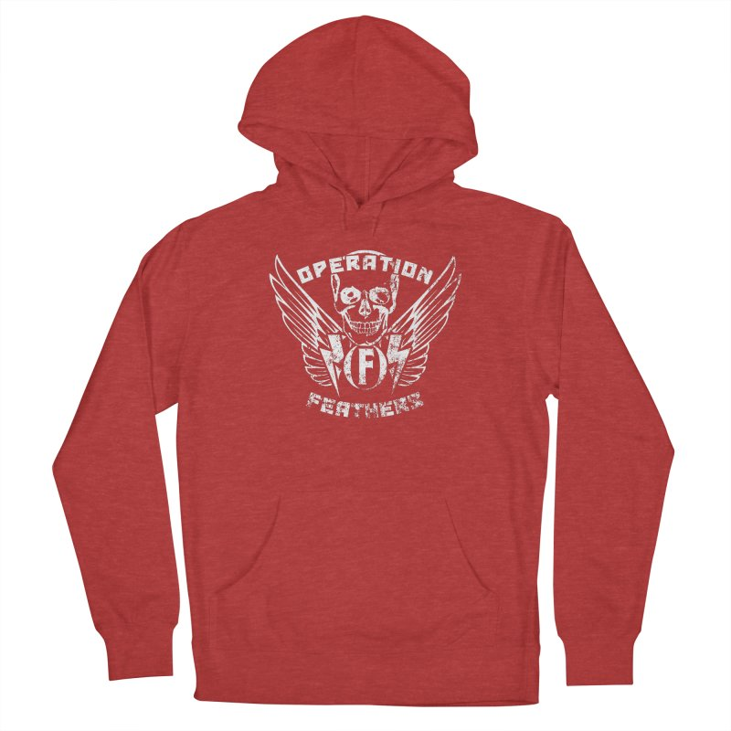Operation Feathers Logo - Distressed White Men's Pullover Hoody by The Evocative Workshop's SFX Art Studio Shop