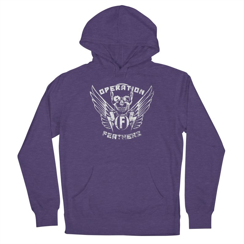 Operation Feathers Logo - Distressed White Women's Pullover Hoody by The Evocative Workshop's SFX Art Studio Shop