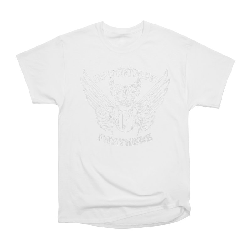 Operation Feathers Logo - Distressed White Men's T-Shirt by The Evocative Workshop's SFX Art Studio Shop