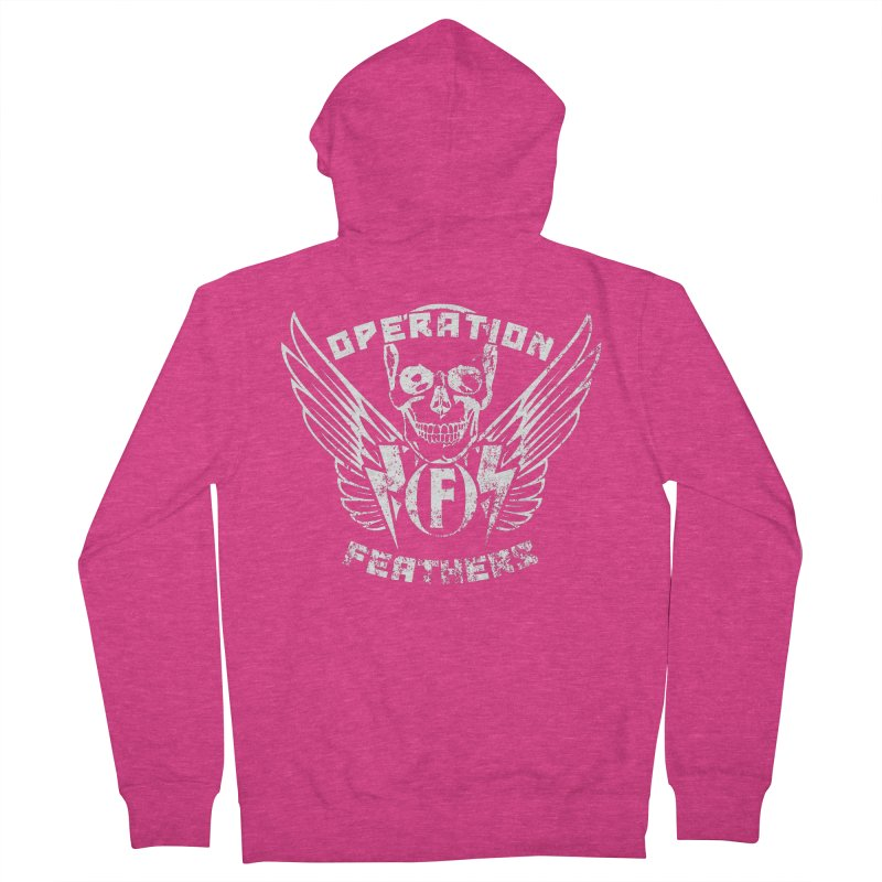Operation Feathers Logo - Distressed White Women's Zip-Up Hoody by The Evocative Workshop's SFX Art Studio Shop