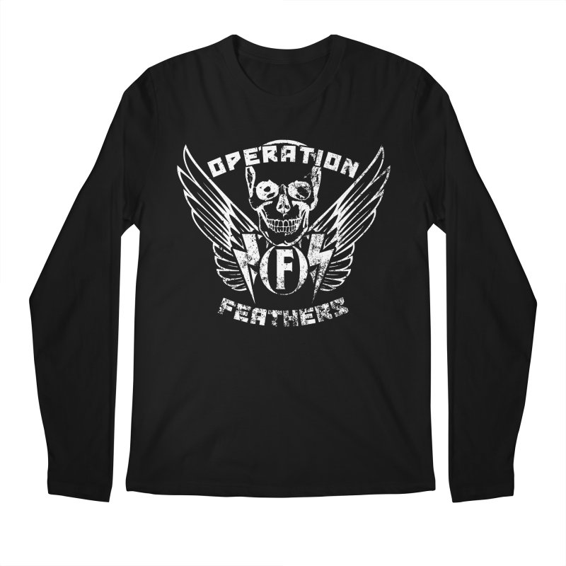 Operation Feathers Logo - Distressed White Men's Regular Longsleeve T-Shirt by The Evocative Workshop's SFX Art Studio Shop