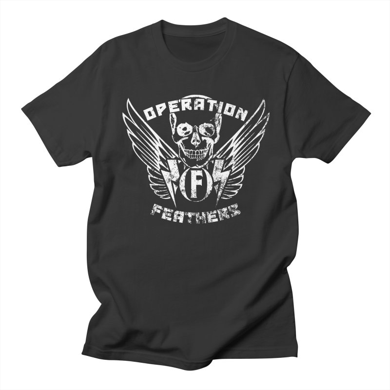 Operation Feathers Logo - Distressed White Women's Regular Unisex T-Shirt by The Evocative Workshop's SFX Art Studio Shop
