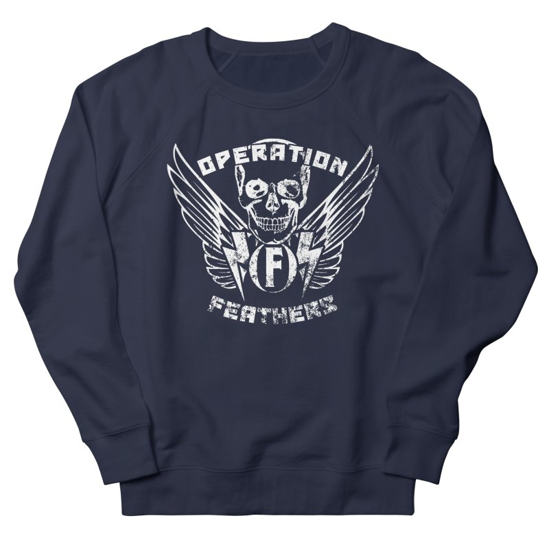 Operation Feathers Logo - Distressed White Women's French Terry Sweatshirt by The Evocative Workshop's SFX Art Studio Shop