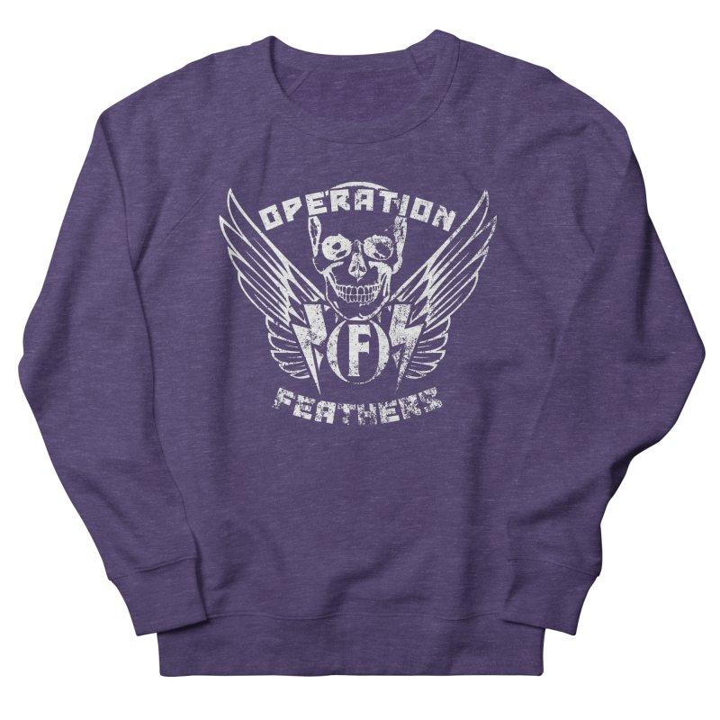 Operation Feathers Logo - Distressed White Men's Sweatshirt by The Evocative Workshop's SFX Art Studio Shop