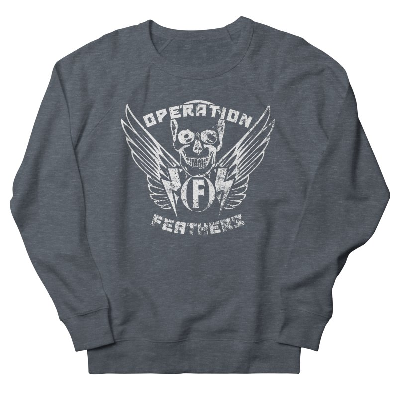 Operation Feathers Logo - Distressed White Men's Sweatshirt by The Evocative Workshop's SFX Art Studio Shop