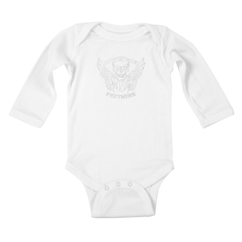 Operation Feathers Logo - Distressed White Kids Baby Longsleeve Bodysuit by The Evocative Workshop's SFX Art Studio Shop
