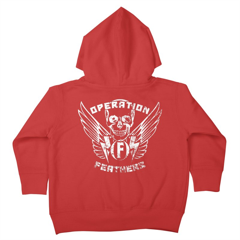 Operation Feathers Logo - Distressed White Kids Toddler Zip-Up Hoody by The Evocative Workshop's SFX Art Studio Shop