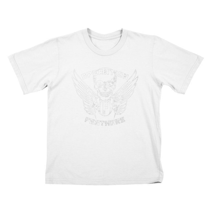 Operation Feathers Logo - Distressed White Kids T-Shirt by The Evocative Workshop's SFX Art Studio Shop