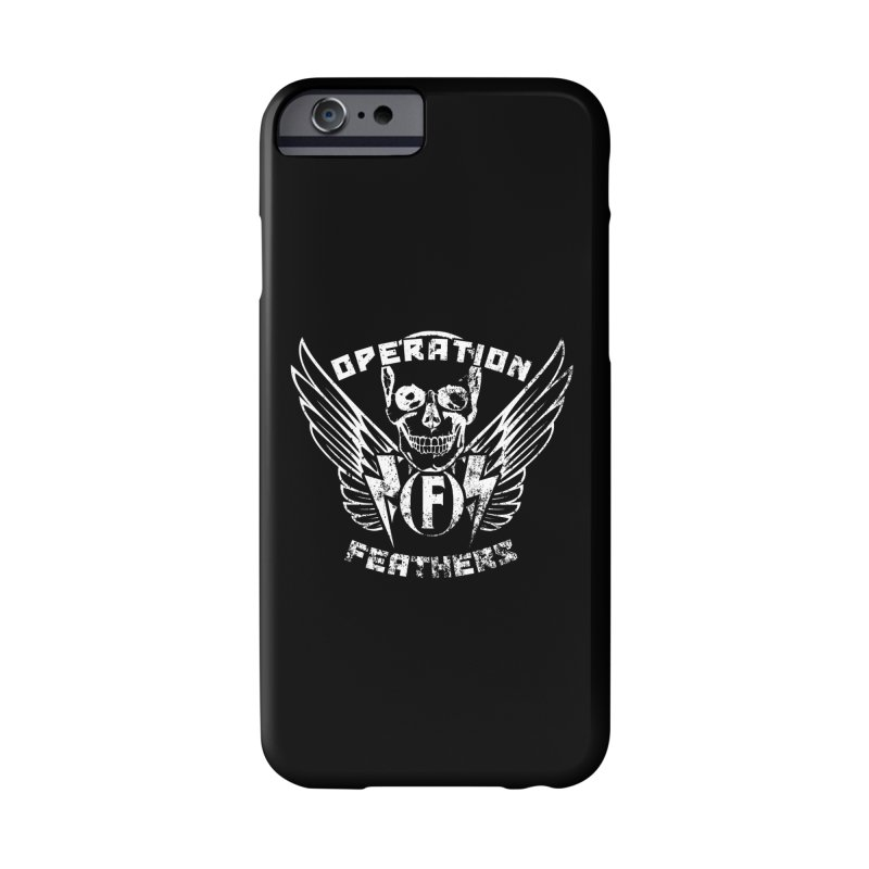 Operation Feathers Logo - Distressed White Accessories Phone Case by The Evocative Workshop's SFX Art Studio Shop