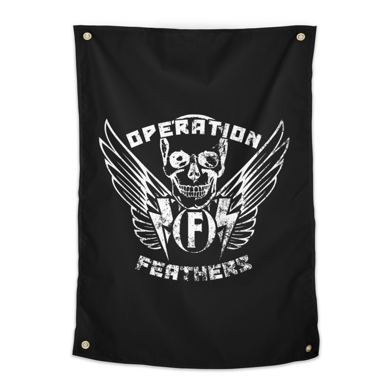 Operation Feathers Logo - Distressed White Home Tapestry by The Evocative Workshop's SFX Art Studio Shop