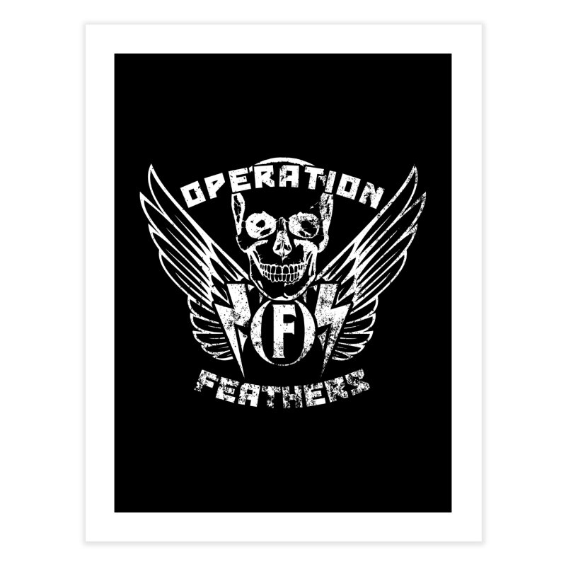 Operation Feathers Logo - Distressed White Home Fine Art Print by The Evocative Workshop's SFX Art Studio Shop