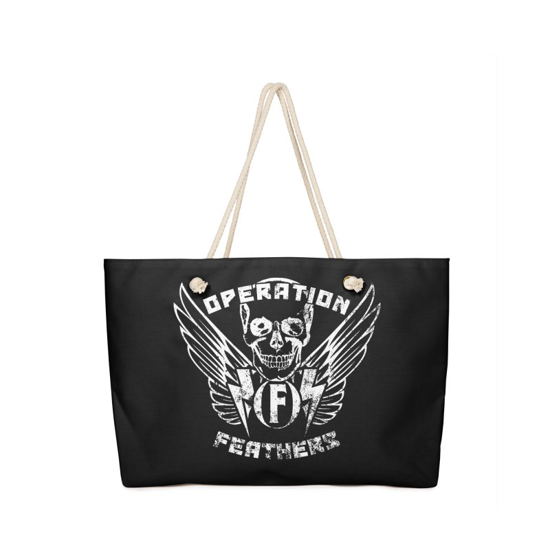 Operation Feathers Logo - Distressed White Accessories Bag by The Evocative Workshop's SFX Art Studio Shop