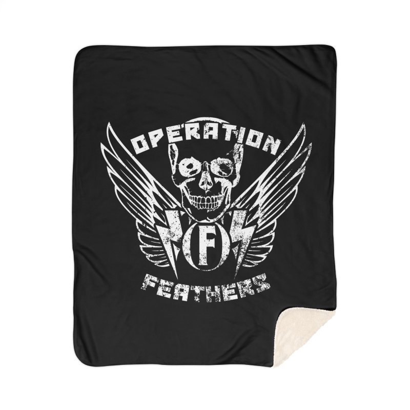 Operation Feathers Logo - Distressed White Home Blanket by The Evocative Workshop's SFX Art Studio Shop