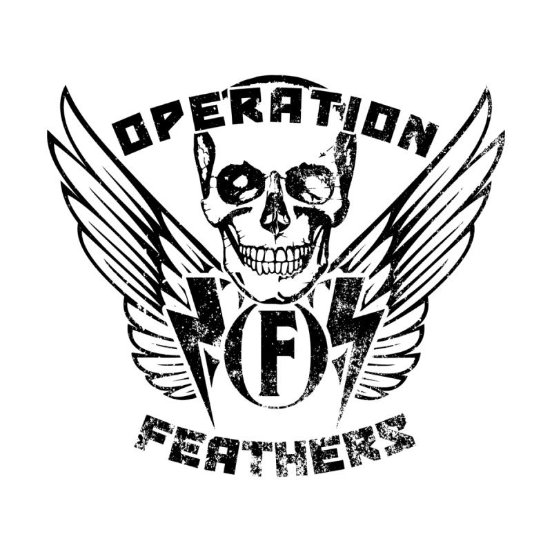 Operation Feathers Logo - Distressed Black Men's T-Shirt by The Evocative Workshop's SFX Art Studio Shop