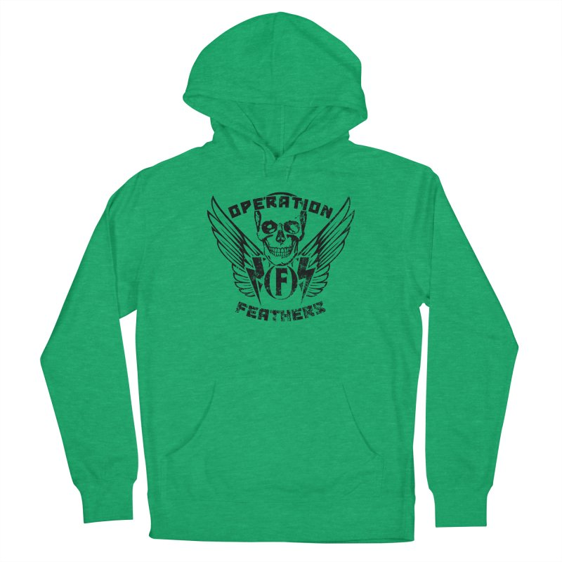 Operation Feathers Logo - Distressed Black Men's Pullover Hoody by The Evocative Workshop's SFX Art Studio Shop