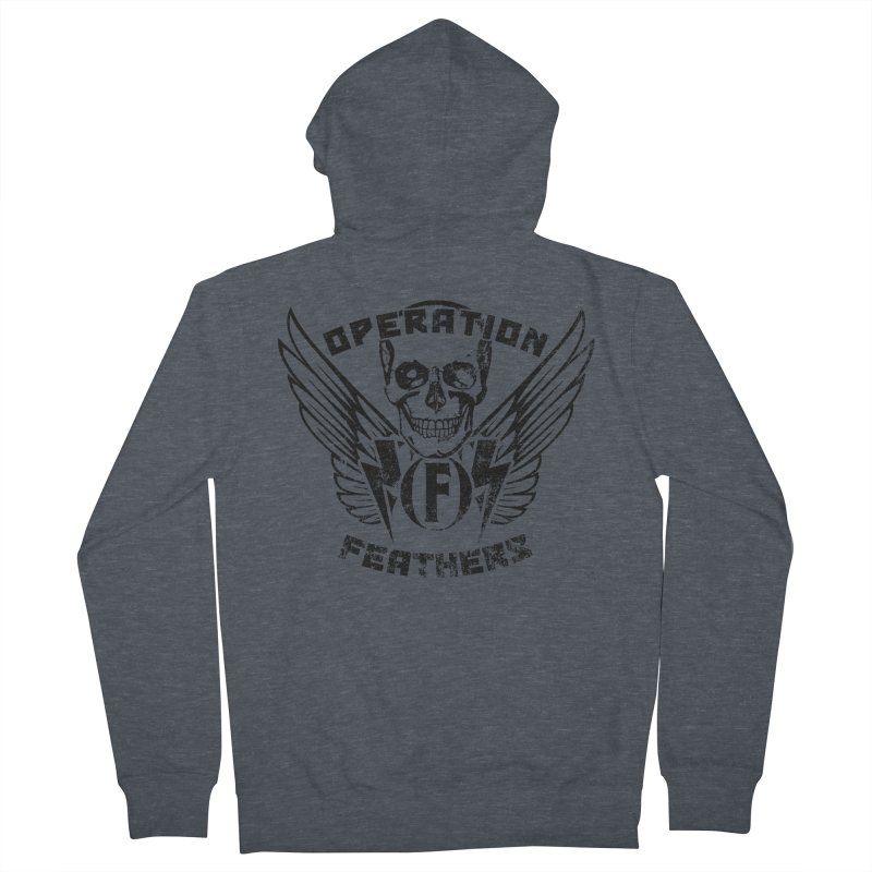 Operation Feathers Logo - Distressed Black Men's Zip-Up Hoody by The Evocative Workshop's SFX Art Studio Shop