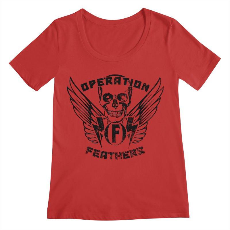 Operation Feathers Logo - Distressed Black Women's Regular Scoop Neck by The Evocative Workshop's SFX Art Studio Shop