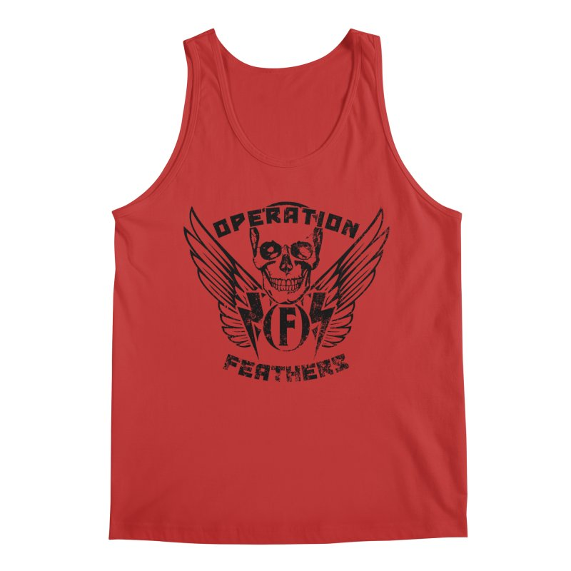 Operation Feathers Logo - Distressed Black Men's Tank by The Evocative Workshop's SFX Art Studio Shop