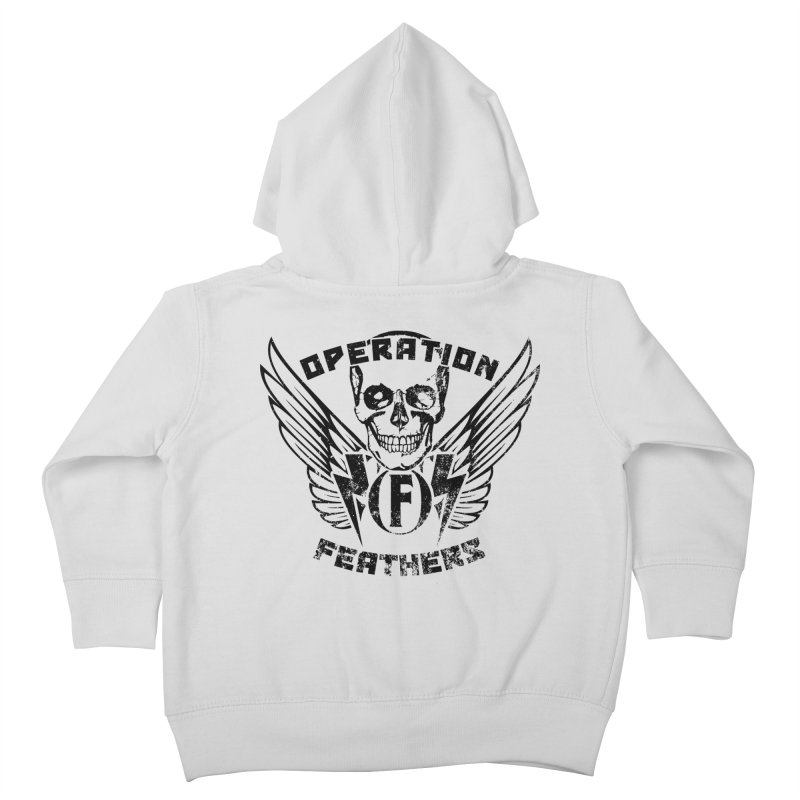 Operation Feathers Logo - Distressed Black Kids Toddler Zip-Up Hoody by The Evocative Workshop's SFX Art Studio Shop